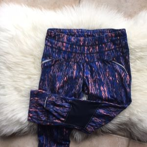 Athleta Multi Colored Cropped Leggings